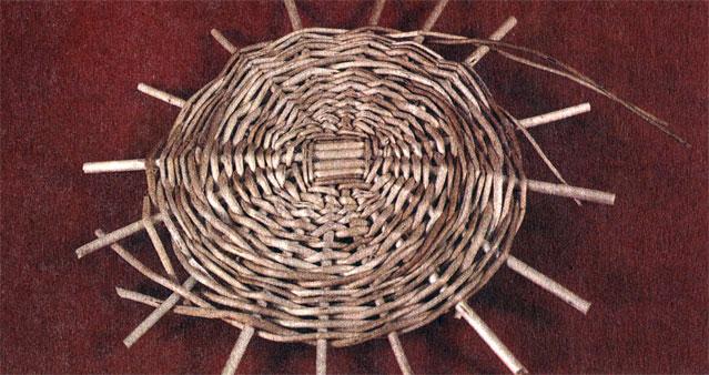 Плетение овального донышка из ивовой лозы. - Pinterest