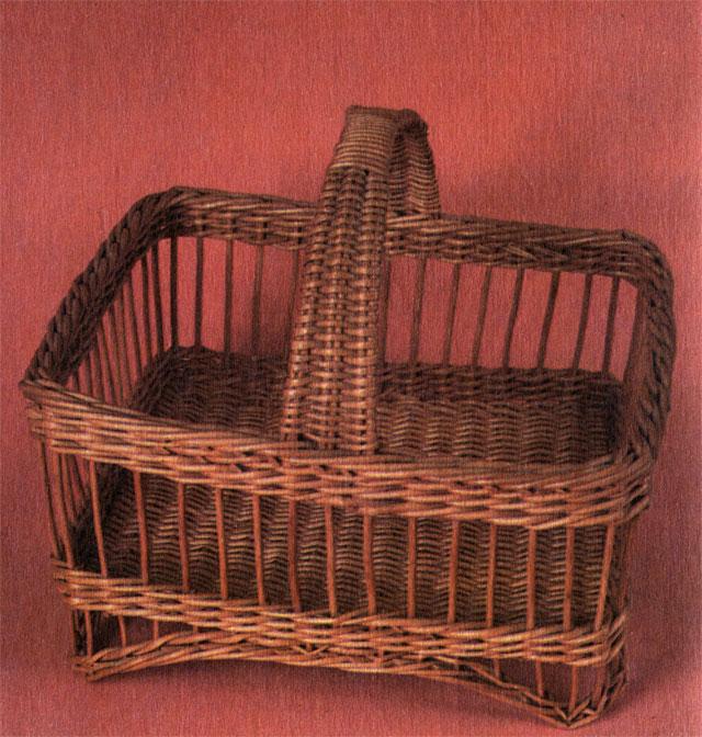 Вариант прямоугольной корзинки на 50 яиц. Работа Е. Е. Павлова