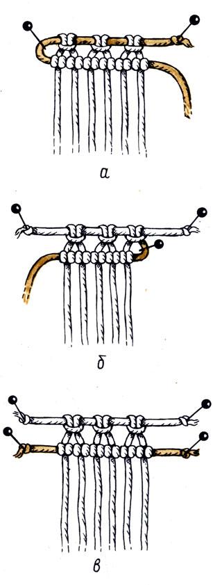 Рис. 32. Горизонтальными бридами можно укрепить наборный ряд