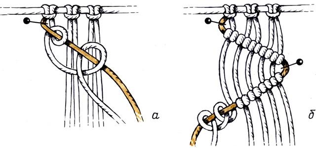 Рис. 34. Диагональный репсовый узел