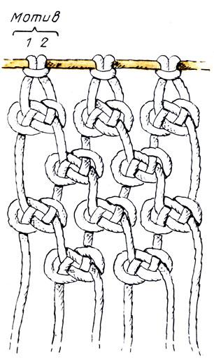 Сетка из узлов 'жозефина'